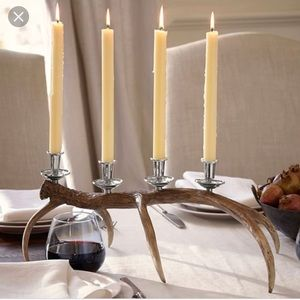Pottery Barn table centerpiece antler